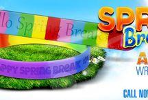 Spring Break Wristbands / Enjoy the spring break with custom spring break bracelets from AmazingWristbands.com / by Amazing Wristbands