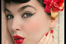 The pin-up girl / I so wish I could pull off the pin-up girl look without looking like I'm playing dressup. / by Emm@
