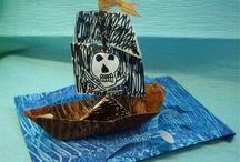 océan : Jack le pirate / crafts sur le thème des pirates / by Christel Ponsero