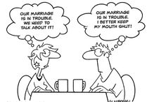 Marriage Cartoons / Lighter deliveries of real messages about the marriage experience. / by The Pure Bed
