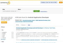 Android Application Developer Jobs / 6000 plus Android Application Developer Jobs are waiting for right candidates... Apply now! / by Careesma.in India