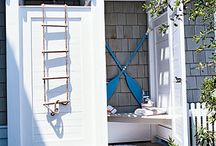 cabana and outdoor shower / by Jennifer Silverio