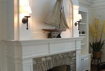 Fireplace mantle / by Jennifer Mixon