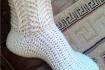 crocheted slippers,socks,booties etc. / by Sara Rivka Dahan