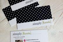 Business card ideas / by LuanoirDesigns