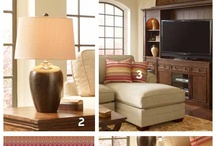 Rustic Charm - Living Room / There's the cozy that puts you to sleep and then there's our cozy – a rustic retreat that lightens a traditional dark palette with the selective use of refined pieces of soft metallic and bright accents. Put on a pot of coffee and throw open the curtains – it's all about easy, welcoming warmth. / by HGTV HOME