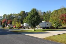 Our RV Lots for rent / We have two Rv lots for rent.  One is in the north Georgia mountains  One is in the Florida Keys / by Karen Lueck