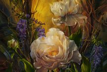 Art - Beautyful flowers / by Bodil Krokvik
