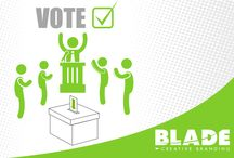 Ontario Votes 2014 / Blade wants you to get out and vote! No excuses people!  / by Blade Branding