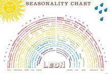 Healthy Eating Information / Seasonal charts & healthy living information / by Christina Denton