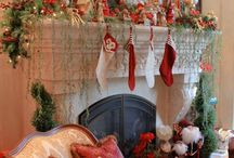Christmas Mantel / Christmas, Christmas Decor, Christmas Mantel, Christmas Decorating / by Mandy Shaw