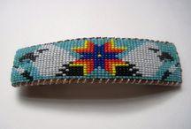 bead loom / bijoux et tutoriel tissage de perles / by Henriette Ruiz
