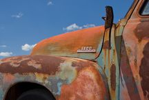 Rusty old vehicles / Old rust, I may want to someday paint / by Lynn Brewer