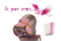 In Your Arms . . Our Mother's Day Collection 2013 / Infusing a heavenly combination of flavors and inspired by the gentle, nurturing and loving qualities that encompass motherhood, Michel RICHART masterfully creates an apricot and neroli ganache in his finest of chocolates. The overall emotional flavors are meant to invoke the very best memories of mom. / by Richart Chocolates