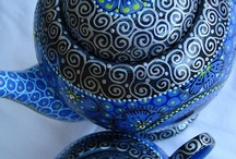 Teapots unique /art 1 / by Marianne Bondalapati