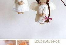 angeli  e  bambole / by lidia fedeli