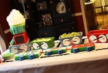 {Train} Party / Train themed birthday party ideas and inspiration on www.partyfrosting.com / by Party Frosting