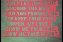 Lovely Lyrics / by Katelinn W