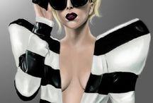 Celebrity Eyewear: Lady Gaga Eyewear / Stefani Joanne Angelina Germanotta (/ˈstɛfəniː dʒərməˈnɒtə/ ste-fə-nee jər-mə-not-ə; born March 28, 1986), better known by her stage name Lady Gaga, is an American pop-singer, songwriter, activist, record producer, businesswoman, fashion designer, philanthropist, and actress. Born and raised in New York City, where she lives.   / by Optical Vision Resources