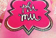 Phi mu / by Colleen Love