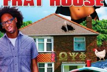 """Frat House (Movie) / (Short Synopsis) """"Scam artist Price Brown was living the good life. Now, with detectives hot on his trail he hides out in his cousin's wacky frat house. … but he just may be safer on the streets!"""" (Starring) Ricky Smiley (BET's Comic View, Friday After Next), Natalie Desselle-Reid (How to be a Player, Madea's Big Happy Family), A.J. Johnson (Friday). / by Green Apple Entertainment"""