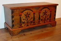 Early Blanket Chests. / With no close spaces being built into early American homes, the blanket chest was a vital part of every home.  The folk art incorporated into many chests was just exquisite! / by Dorothy Holgate