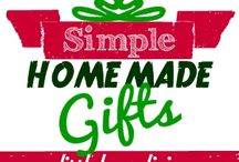 Simple Homemade Gifts / Homemade Christmas gifts that you can make for any family member, friend, or neighbor! Please ONLY pin things that can be gift ideas. / by Merissa Alink (Little House Living)