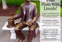 Show Us Your Photo With Lincoln / In honor of Dedication Day and the 150th Anniversary of the Gettysburg Address, we would like to display a thousand pictures of visitors—individuals, families, military groups, re-enactors, in short, anyone who has had their picture taken with Mr. Lincoln at the Visitor Center in the last five years.  Submit your photo at: http://visitorcenterlincoln.tumblr.com/ / by Gettysburg National Military Park Museum & Visitor Center