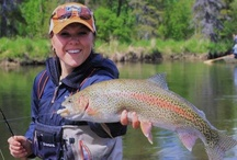 Huntin and fishin is for girls too! / # hunting, # fishing  # flyrods # trout #fish #deer #girl hunter / by Recia Kiser