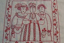 Redwork embroidery / by Sarva Mangala