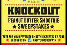 Knockout Peanut Butter Sweepstakes / One-two punch, ROCKY has taken Broadway by storm! We've teamed up with this knockout musical to bring you the Knockout Peanut Butter Smoothie Sweepstakes.  Every week for the next four weeks we're bringing 4 peanut butter smoothie recipes ringside to punch it out for best recipe. Vote for your favorite and enter for a chance to win a pair of tickets to ROCKY Broadway plus a year's supply of peanut butter!   www.KnockoutPeanutButterSmoothie.com / by PeanutButterCo