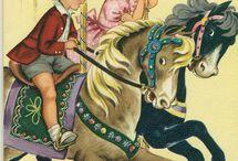 69).-  Children birthday vintage cards / Children birthday vintage cards / by Edwige Gendron