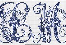 Haft krzyzykowy (alfabet) / Cross stitching (alphabet) / by Anna Kopczynska
