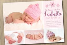 Baby Girl Announcements / by Kristin Winn