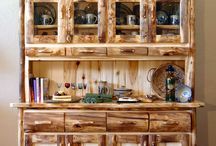 Heirloom Log Furniture Collection / Our core collection: pieces for every room in your home, chalet or lodge     Created by the most highly skilled artisans in the businessLog Right Stands     Meticulously constructed, durable, beautiful  / by Mountain Woods Furniture Manufacturing LLC