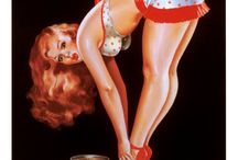 Pin Up Girls / Collecting work from Earle K. Bergey, Enoch Bolles, Alberto Vargas, Gil Elvgren, George Petty, and numerous notable artists, such as Rolf Armstrong and Art Frahm. / by Damian Claassens