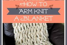 Arm Knitting and Finger Knitting / by Brandy Mitchell