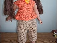 crocheted doll clothes, 18 inch / by Cheryl Mayo