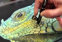 Airbrushing / Airbrush tutorials, stencils, tips and tricks / by Veronica Ortegon
