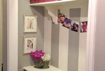 Closet Desk / Thinking about creating a work space where my hall closet is.  / by Shanna Higgins