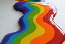 Rainbows make me happy! / by Elizabeth Lambrinides