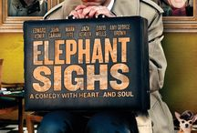 """Elephant Sighs (Movie) / (Short Synopsis) """"In this quirky, off-beat comedy (based on the hit play), an oddball group of men meet in a ramshackle room at the edge of a rural town ... with a mysterious reason for gathering."""" (Starring) Edward Asner (TV's Mary Tyler Moore, Up, Elf), John Cariani (Showtime, Kissing Jessica Stein), Mark Fite (Fight Club, Godzilla), Jack Kehler (Men In Black II, The Big Lebowski), and David Wells (Basic Instinct, Beverly Hills Cop). / by Green Apple Entertainment"""
