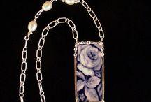 let's break it / Broken china re-purposed into jewelry / by Kay Foulke