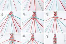 Pulseras, collares y otros con hilos / by noelia buján