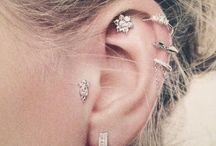 Ear peircing combos +ink / This board is for ear piercing inspiration and tattoo beauty / by Flowerfromheaven