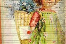 Paper scrap art / Stamping, paper crafting, altered books, scrap booking.  / by Holly Zahn Manske