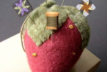 Just Pin it! / Pin cushions are the rage it seems, the more whimsical the better. Does anyone sew anymore? really doesn't matter! / by Marie Mayhew Designs