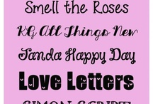 Fonts  / by Chrissy Thomas