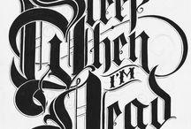 Typography / by allati el henson