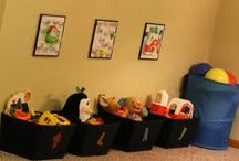 toy storage / by Julie Fitzsimmons